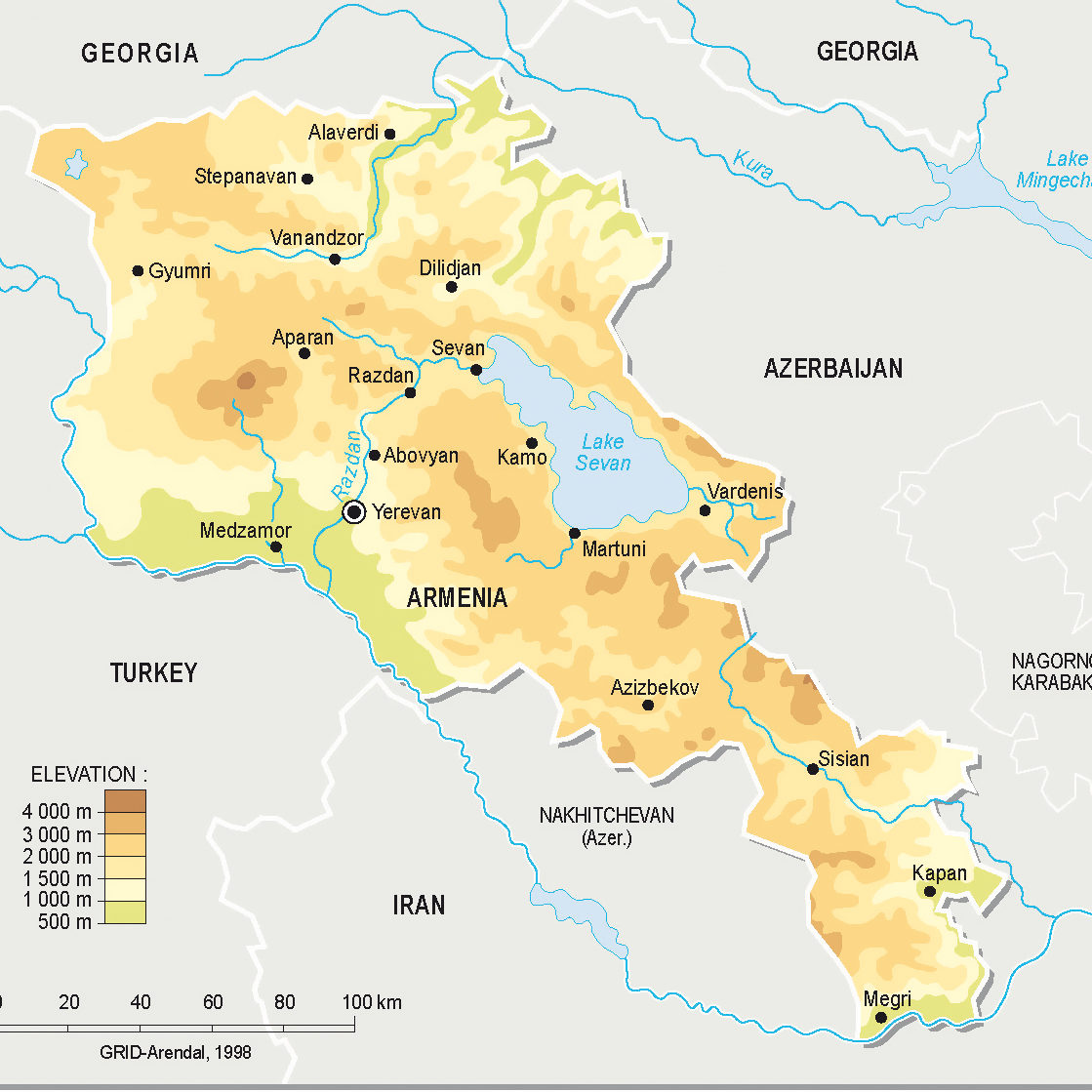 detailed-physical-map-of-armenia