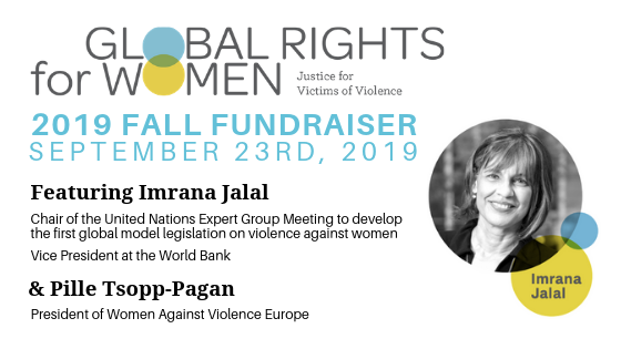 Global Rights For Women 2019 Fall Fundraiser  |  Tickets Now Available!