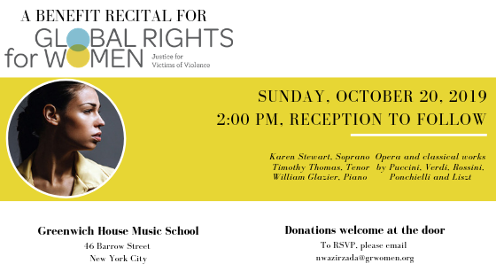Upcoming Event: 2019 New York City Benefit Recital
