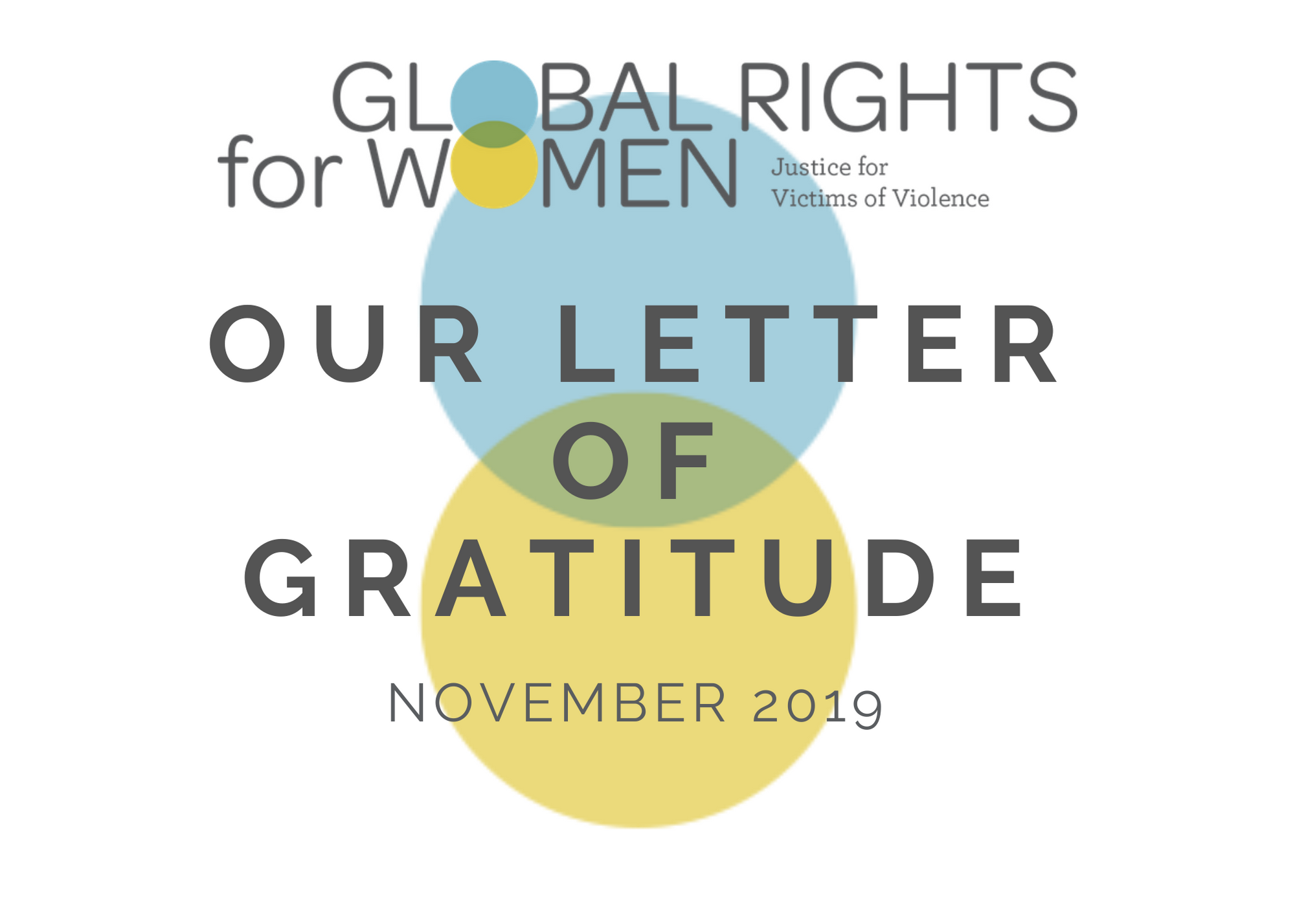 Our Letter Of Gratitude: A Newsletter Dedicated To Our Supporters And Community